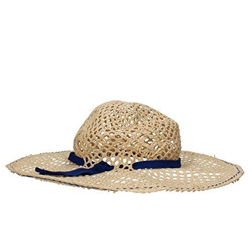 NALì cappello donna beige carta tessile rosso blu (Blu)