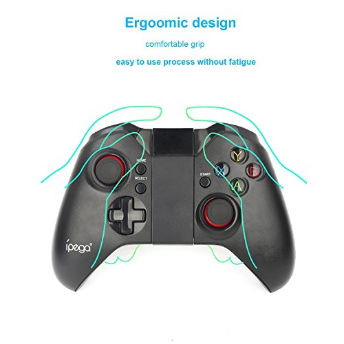 powerlead Wireless Bluetooth Android Game Controller Gamepad Joypad der Regelklemmleiste für iPhone/iPod/iPad/Android Handy PC/Tablet (Bluetooth-controller, Ipad)