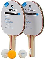 tecnotubi Opro Raquette de Tennis de Table Tournament 1//étoile Raquette de Tennis de Table Noir//Rouge Taille Unique