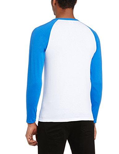 Fruit of the Loom Herren, Regular Fit, T-Shirt, Baseball Mehrfarbig (White/Royal)