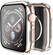 Smiling Case Compatible with Apple Watch Series 6/SE/Series 5/Series 4 44mm with Built in Tempered Glass Scree