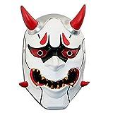 WHFDRHWSJMJ Halloween Maske LED Light Horror Maske Latex Maske inspiriert Zubehör Harz Plexiglas Halloween Kostüme, A