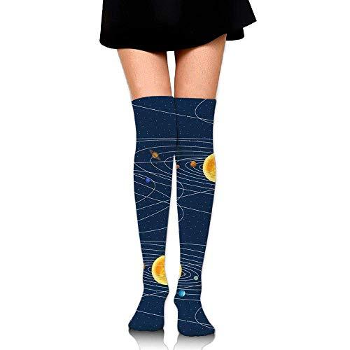 deyhfef Solar System Upgraded Knee High Graduated Compression Socks Women Men - Best Medical,Nursing,Travel & Flight Socks - Running & Fitness. -