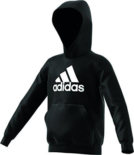 Adidas Yb Logo Hood Felpa, bambino, Bambino, Yb Logo Hood, nero, 176