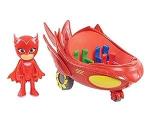PJ: máscaras para vehículo y figura - Glidero de búho , Modelos/colores Surtidos, 1 Unidad