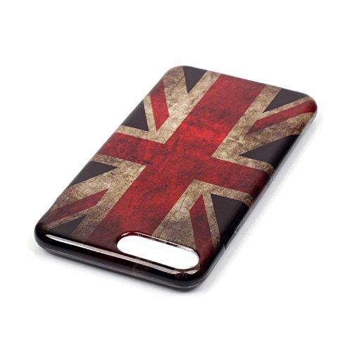 Für iPhone 7 Plus,Sunrive Schutzhülle Etui Hülle TPU Silikon Rückschale Silicon Cover Tasche Case Bumper Abdeckung Handyhülle(Campanula)+Gratis Universal Eingabestift Englisch