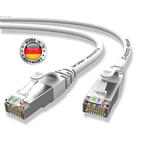 AIXONTEC® I Netzwerk-Kabel Cat6 12m grau Patch-Kabel Ethernet-Kabel Powerlan Gigabit Ethernet Kupfer pimf Twisted-Pair-Kabel rj45 Kabel I Switch Router Server PC Laptop Scanner Access Point Modem -
