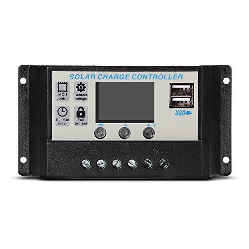 XCSOURCE Pannello 20A Solar controller LCD PWM Regolatore solare regolatore