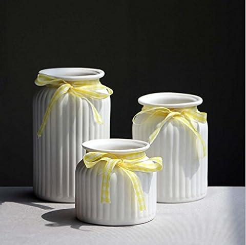 Kleine frische keramische Vase Bogen Blumentöpfe Büro Wohnzimmer Haus Einrichtung Ornament Handwerk Elegant Schöne ideale Geschenk , a set of 2