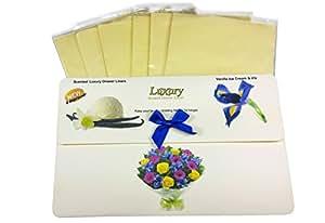 Liners Vanilla Ice Cream & Iris Gift Pack of 6 Luxury Scented Drawer