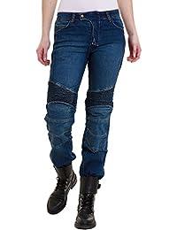 70a64f79380f84 Qaswa Damen Motorradhose Jeans Motorrad Hose Motorradrüstung  Schutzauskleidung Motorcycle Biker Pants