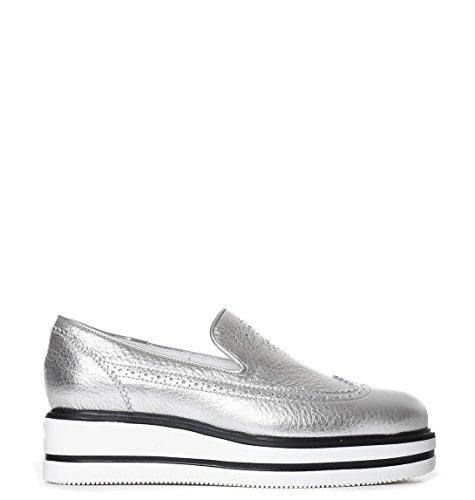 Hogan Femme Hxw3230x780es9b200 Argent Cuir Chaussures De Ska