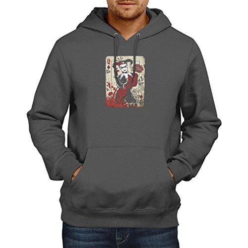 TEXLAB Harley Queen - Herren Kapuzenpullover, Größe L, grau