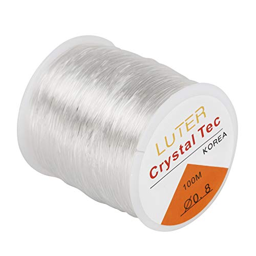 LUTER Elastic Cord Beading Thread Bead Thread Cord Elastic Bead Cord Clear Thread Stretchy String Cord Jewellery Making Elastic Thread Elastic String -