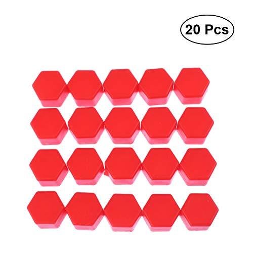 Vosarea 20 Stück Radmuttern Muttern für Radschrauben 17 mm (Rot)