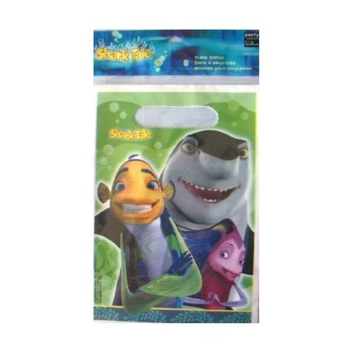 Shark Tale Party Supplies Loot Bags (8 (Shark Party Supplies)