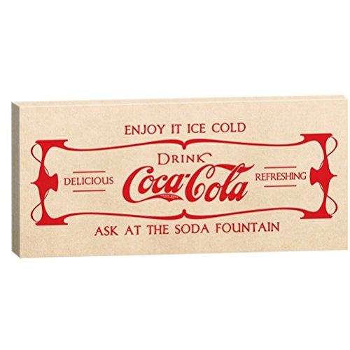 Grand cadre rectangulaire en Toile Coca-Cola Fabriqué en France