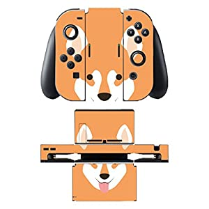 Disagu SF-sdi-5542_1030 Design Folie für Nintendo Switch mit Controller und Dockingstation – Motiv Shiba Inu Gesicht transparent