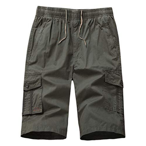 Hosen Kurz Freizeithose Chino Slim Stoffhose Arbeit Baumwolle Männer Comfort SweatshortsSporthose Fitness für Laufsport ()