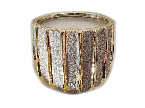 Der Perlenspieler® - Kerzenschmelzer Tischlicht Materialmix-Gold-Hochglanz- für kleine Tische und Balkone-3 mm Glasfaserdocht-12 cm x 12 cm