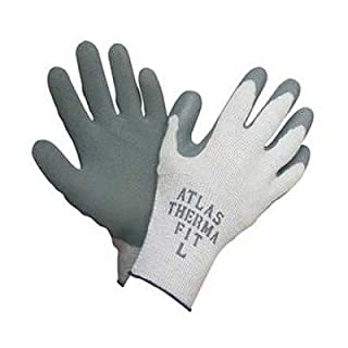 Showabestâ Size 7 Gray Atlas Thermafitâ 451 Seamless Loop-In Terry Cotton Thermal Lined Cold Weather Gloves With Rubber Latex Coated Palms