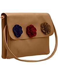 TAP FASHION Fancy Stylish Party Wear Women's Sling Bag With Flower For Ladies And Girls - B07FGRX2S3