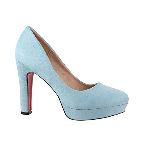 Elara Damen Pumps | Bequeme High Heels | Vintage-Style | Abendschuh Trendy | Chunkyrayan | E22360 Beige-36