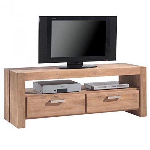 Meuble TV L 150 x L 47 cm en teck BORNÉO