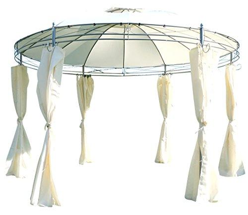 ASS Eleganter Gartenpavillon Pavillon 3,5 Meter Durchmesser rund mit Dach 100% wasserdicht UV30+ und...