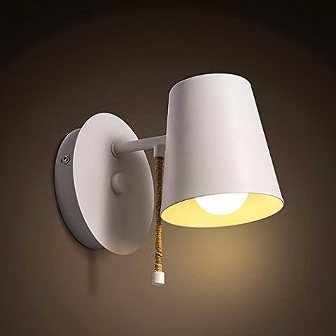 Modern Stil Schalter Design Eisen Schlafzimmer Bettseite Wandlampe Kreative Einfache