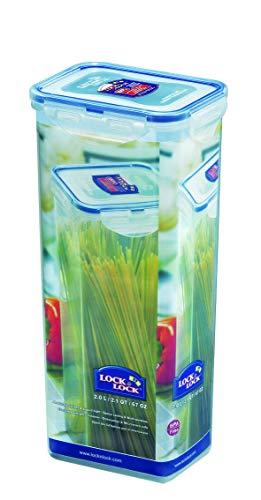Lock & lock hpl819 rettangolare scatola 2l blu, trasparente recipiente per cibo