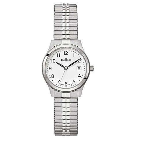 Dugena Herren Armbanduhr Bari Edelstahl 28mm silber