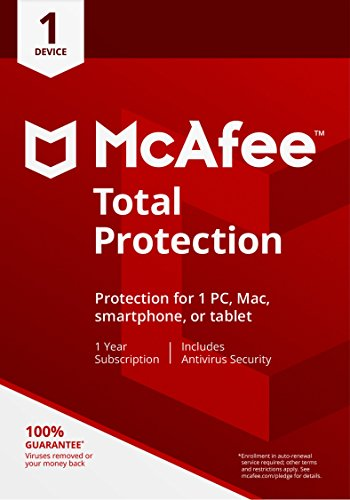 McAfee 2018 Total Protection | 1 Devices | PC/Mac/Android | Download