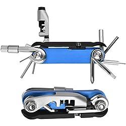 Kit de herramientas de reparación mecánicas para bicicleta Powerdelux Kit de reparación de bicicleta Herramienta de Mano Plegable Herramienta de Bolsillo Plegable Mantenimiento de Bicicletas XD001