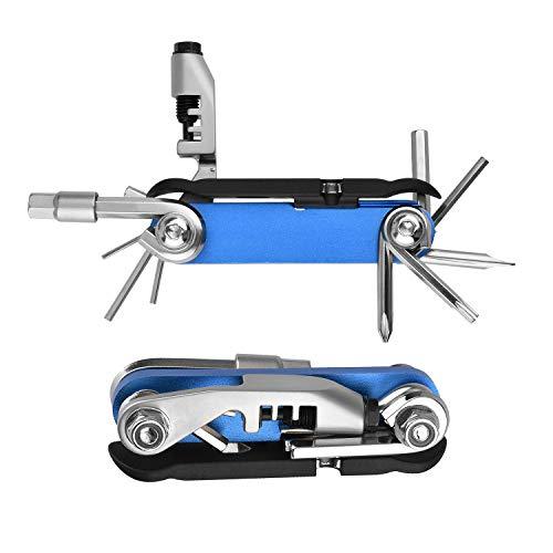 Multitool per bici 15 in 1 in acciaio inox Powerdelux Multiattrezzo da bicicletta Multitool bici Bicicletta Attrezzi per Manutenzione Mini-strumento per bicicletta Attrezzi multifunzione