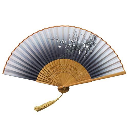 Faltfächer Handheld Fans Bambus Damen Ausgehöhlt Hand Halten Ventilator