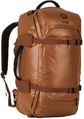Bago Duffle Backpack - Heavy Duty Bag for Travel, Sports and Gear (Brown)