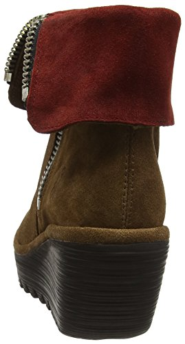 FLY London Yex668fly, Bottes Classiques Femme Marron (Camel/wine 006)