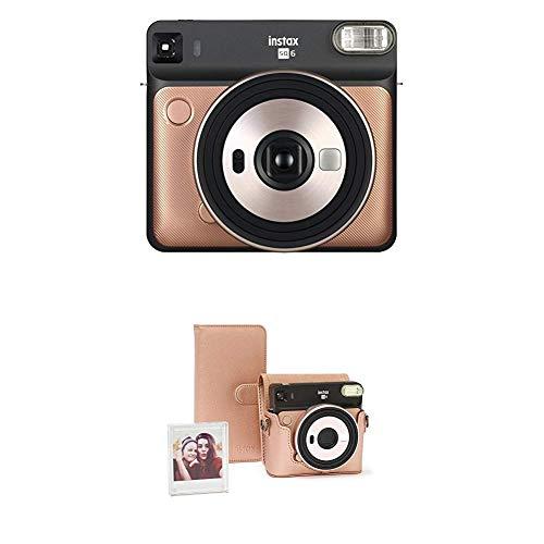 Fujifilm Instax SQ 6 EX D Sofortbildkamera, Blush Gold + Instax SQ 6 Zubehörset Blush Gold