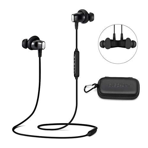 opfhörer, in Ear Kopfhörer Sport Ohrhörer Wireless Earphone Kopfhörer Headset IPX4 wasserdicht 8 Stunden Spielzeit + Mikrofon+ Magnetisch Design + Tasche für Smartphone IOS Android ()