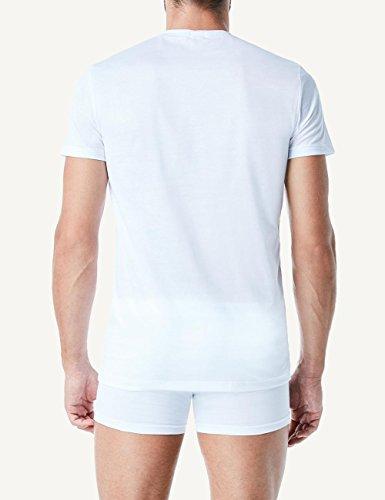 Intimissimi Herren Halbarm-Shirt mit Rundhalsausschnitt aus mercerisierter Baumwolle Weiß - 001