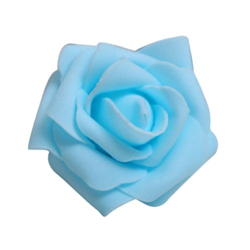 toogoor-100pcs-foam-rose-flower-bud-wedding-party-decorations-artificial-flower-diy-craft-light-blue