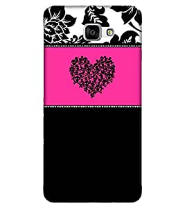 For Samsung Galaxy A9 Pro skull heart ( skull heart, pattern, skull, beautiful flower, black background ) Printed Designer Back Case Cover By FashionCops