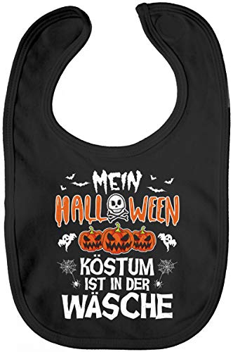 ShirtStreet Partner Gruppen Lätzchen Baumwolle Baby Bib Jungen Mädchen Mein Halloween Kostüm ist in der Wäsche, Größe: - Mädchen-kostüme Halloween-gruppe,