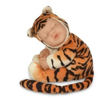 Anne Geddes Baby Tiger Bean Filled Soft Body Doll / Bebe Tigre Poupee Peluches