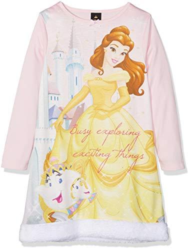 Disney Princess Belle Faux Fur Camicia da Notte Bambina Pink 6 7 Anni