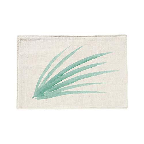 ZCHPDD Idyllische Grüne Blattpflanze Baumwollmatte F 45 * 30Cm * 8St