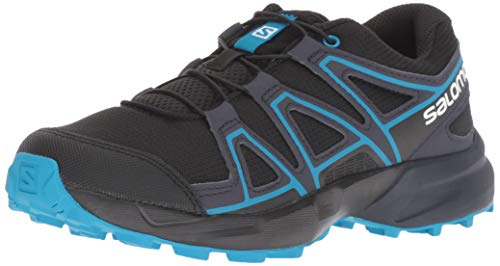 SALOMON Speedcross J, Scarpe da Trail Running Unisex Bambini, Nero/Blu (Black/Graphite/Hawaiian Surf), 39 EU