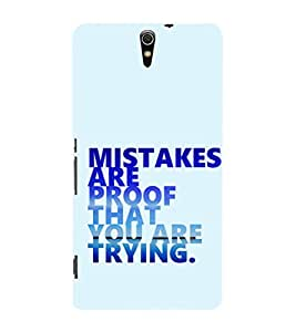EPICCASE Keep trying Mobile Back Case Cover For Sony Xperia C5 Ultra Dual (Designer Case)