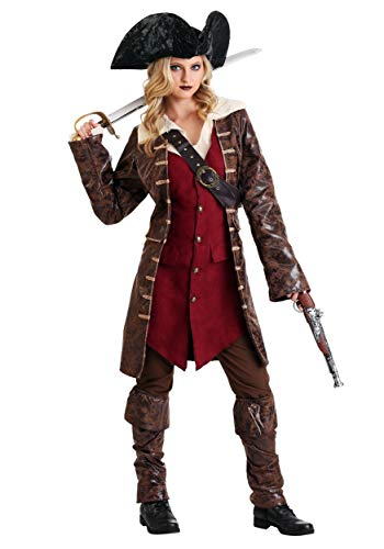 Womens Caribbean Pirate Fancy Dress Costume Small
